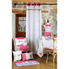 galette de chaise style campagne de chaise 4 pts charme motifs vichy gris et pois fuschia décor