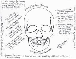 Sugar Skull Pumpkin Carving Patterns by Magick Notes U2014 Dios De Los Muertos Sugar Skull Template U2013 Silver