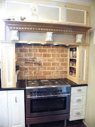 faux brick backsplash in kitchen kitchen remarkable faux brick backsplash with easy install decor