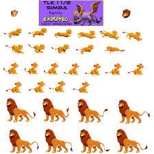 game boy advance lion king 1 1 2 simba spriters resource