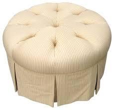 yellow u0026 white round ottoman 750 est retail 350 on chairish com