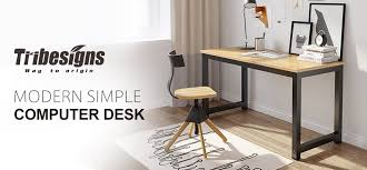 Sturdy Office Desk Tribesigns Computer Desk 55 Large Office Desk Computer Table
