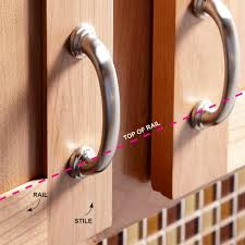 Kitchen Cabinet Hardware Placement How To Install Cabinet Handles How To Install Kitchen Cabinet