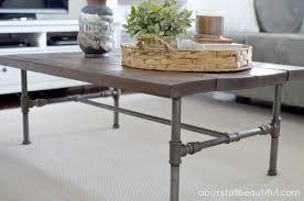 Industrial Table L Industrial Rustic Coffee Table Writehookstudio