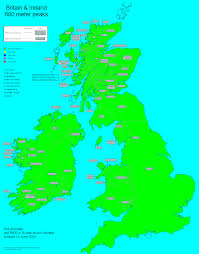 Map Of British Isles Rob Woodall British Isles 600 Meter Prominence Completion Map