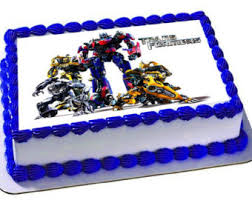 transformer decorations transformers cake etsy
