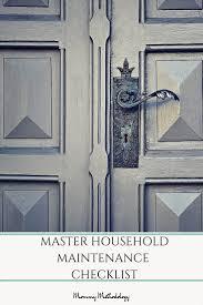 master household maintenance checklist mommy methodology
