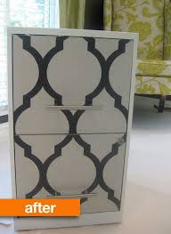 metal desk with file cabinet 8 great stenciled papered and painted file cabinet makeovers