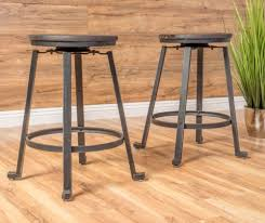 iron metal counter height stool set of 2 industrial restoration
