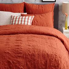 coral duvet cover and shams