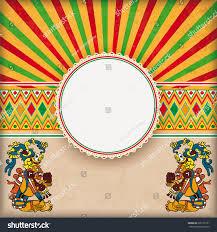 vintage background mexican ornaments emblem stock vector