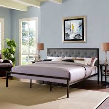 King Upholstered Platform Bed Modway Mia Upholstered Platform Bed Hayneedle
