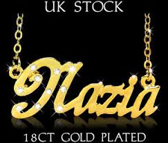 name plated necklace personalized necklace nazia 18ct 18k gold plated arabic gifts name
