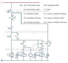 rangkaian star delta motor listrik 3 fasa menggunakan plc