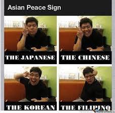 Peace Sign Meme - asian peace sign by landeh meme center