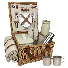 picnic basket set for 2 willow picnic baskets luxury christmas willow hers candle and