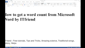 Count Word In Pdf How To Get A Word Count And Number Of Characters From Microsoft