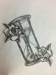 hourglass with flowers google search tatts pinterest