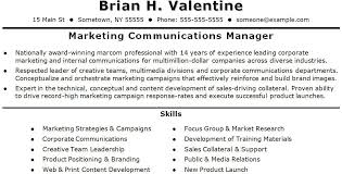 communications manager resume 9 best project management resume
