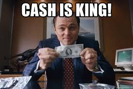King Meme - cash is king wolf of wall street meme see this meme generator