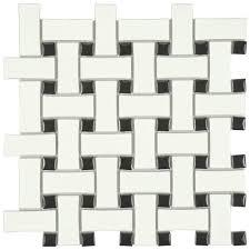X Backsplash Tile Flooring The Home Depot - Basket weave tile backsplash