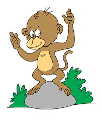 baby monkey coloring pages kids color print