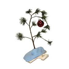 musical brown christmas tree productworks 24 inch musical peanuts brown christmas tree