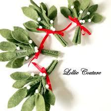 mistletoe felt felt ornaments mistletoe