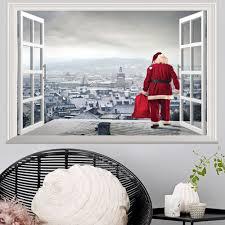 china diy christmas santa clause snowman wall sticker 3d removable