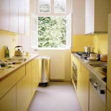 kitchen galley types of kitchen cabinets use yellow kitchen