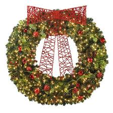 60 pre lit wreath with clear lights sam s club