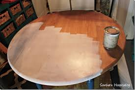 How To Paint A Table Drop Leaf Table Updated Cottage Style Southern Hospitality