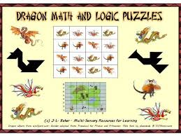 dragon pack visual math and logic puzzles for middle and upper