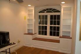 Bookcase Bench Built In Bookcases Around Window What A Window Wow