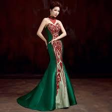 aliexpress com buy green satin beaded bandage mermaid off the