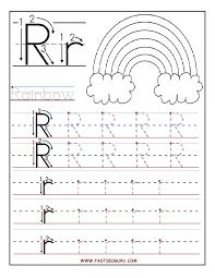 printable letter r tracing worksheets for preschool summer