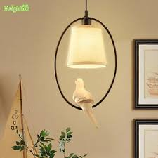 Country Style Chandelier American Country Style Chandelier Resin Bird Led L Cloth Shade