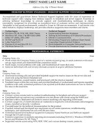 Process Technician Resume Sample by Classy Inspiration Desktop Support Technician Resume 10 Desktop