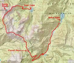 Lake Washington Map by Footloose On The Trail Lost Lake To Echo Lake Loop Norse Peak