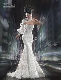 different wedding dresses new unique glamorous one sleeve mermaid lace wedding dress