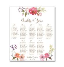 Free Wedding Seating Chart Template Excel Wedding Table Seating Chart Printable 50 130 Guests
