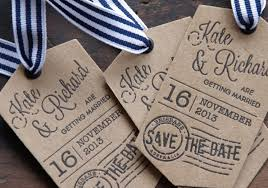 luggage tag save the date swing tags letterpress