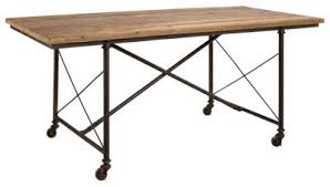 Industrial Dining Table Park Hill Collection Reclaimed Wood Industrial Dining Table Bass