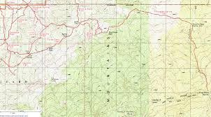 Lake Vermilion Map Topographic Map Of The Douglas Spring Trail Saguaro National Park