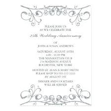 silver wedding anniversary party invitations anniversary party