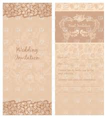 Invitation Card Download Vintage Wedding Invitation Or Greeting Card Template Vector Image