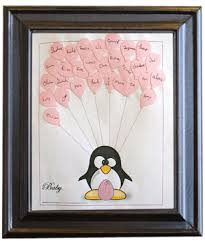penguin baby shower penguin theme baby shower guest book print