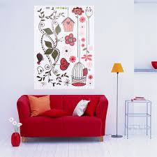 1pcs flowers bird cage vine removable wall sticker decor bedroom 1pcs flowers bird cage vine removable wall sticker decor bedroom baby nursery wall window room diy decals hot sale in wall stickers from home garden on
