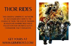 grimfrost thor rides this original grimfrost artwork facebook