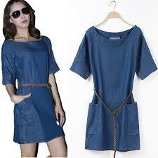 aliexpress com buy 2017 summer short sleeve denim dress plus